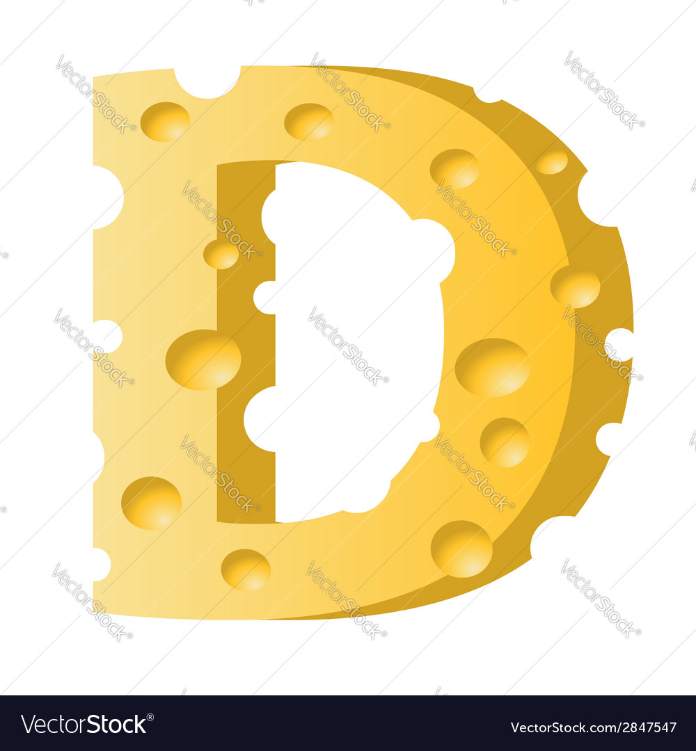Cheese letter d vector | Price: 1 Credit (USD $1)