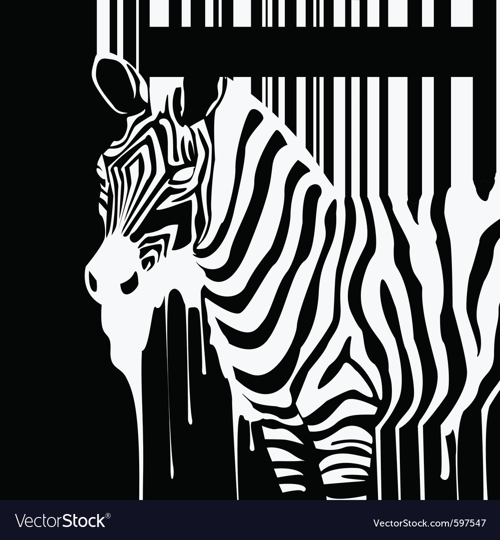 Dripping zebra silhouette vector | Price: 1 Credit (USD $1)