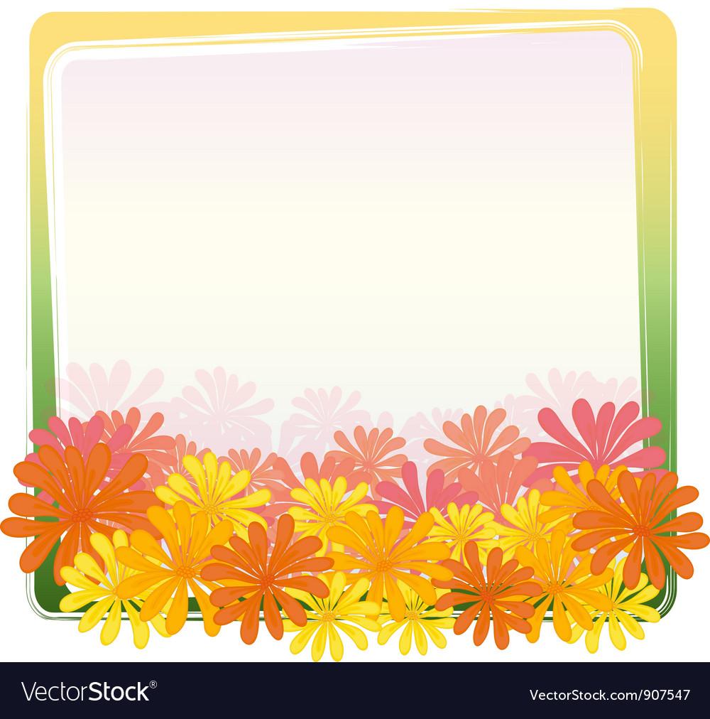 Flower frame vector | Price: 3 Credit (USD $3)
