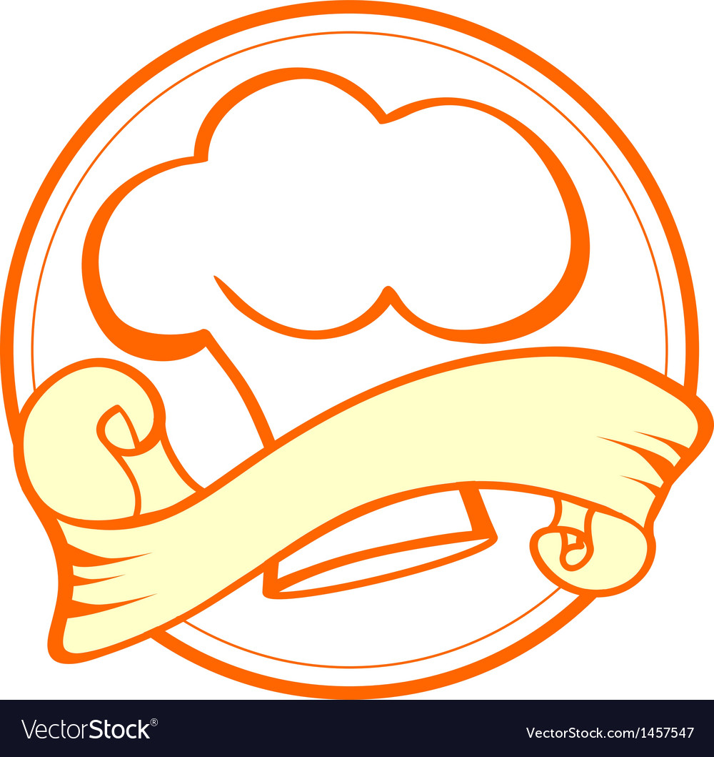 Food and cook emblem vector | Price: 1 Credit (USD $1)