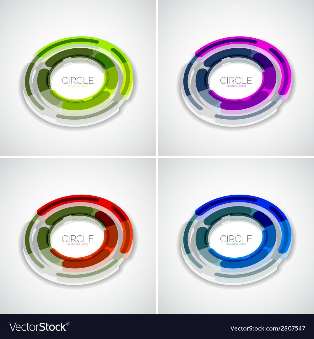 Futuristic rings set company logo 3d design vector | Price: 1 Credit (USD $1)