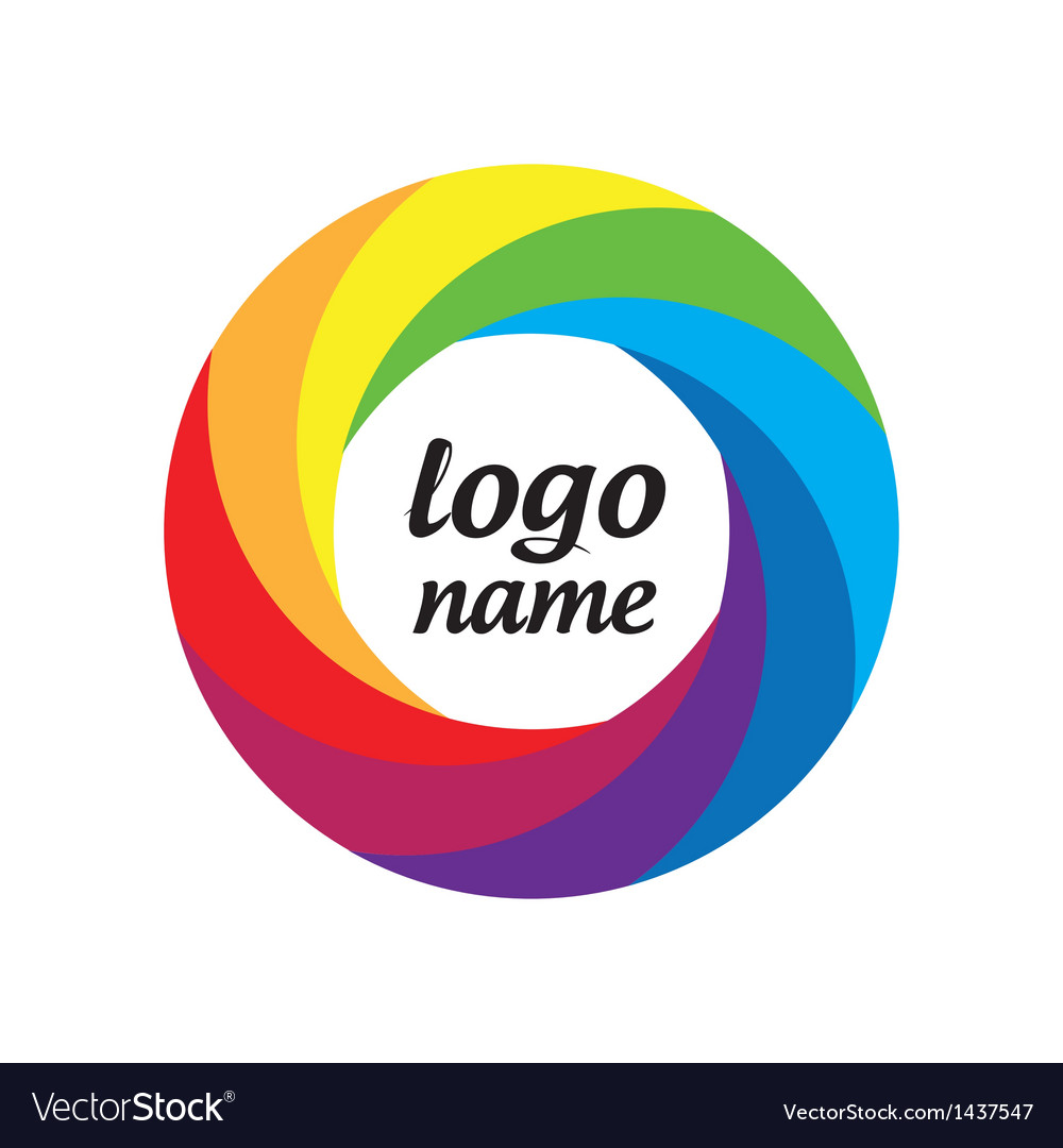 Logo multicolored circle in motion vector | Price: 1 Credit (USD $1)