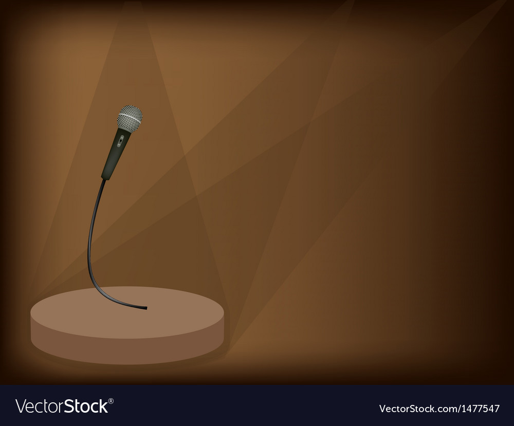 Modern microphone background vector | Price: 1 Credit (USD $1)