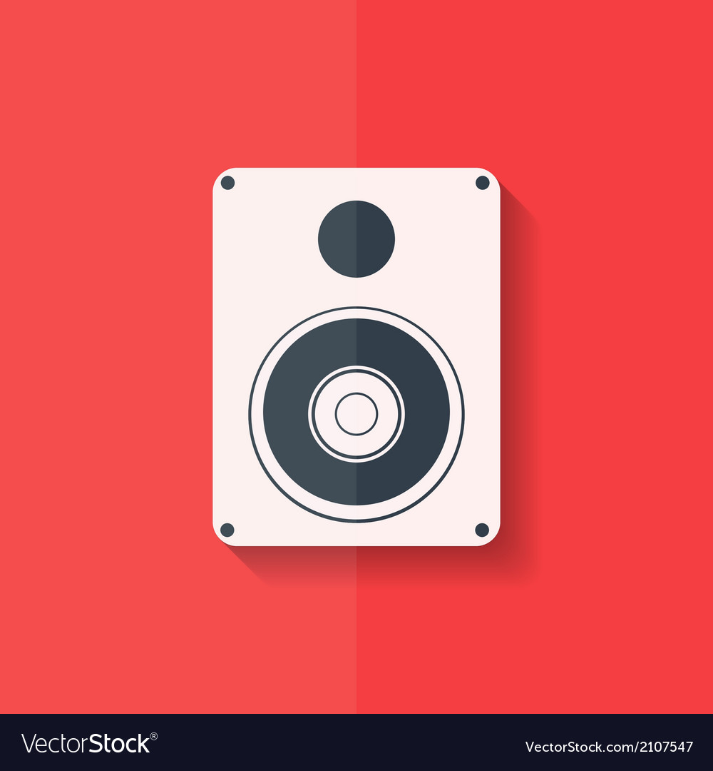 Subwoofer web icon flat design vector | Price: 1 Credit (USD $1)