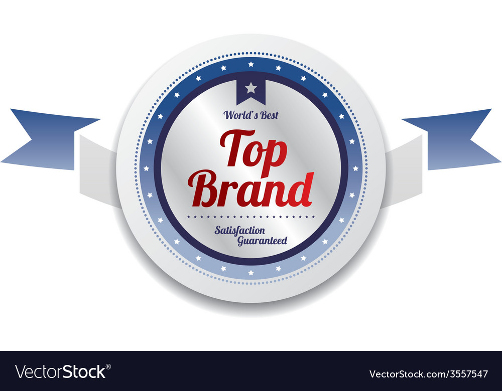 Top brand product sale and quality label sticker vector | Price: 1 Credit (USD $1)
