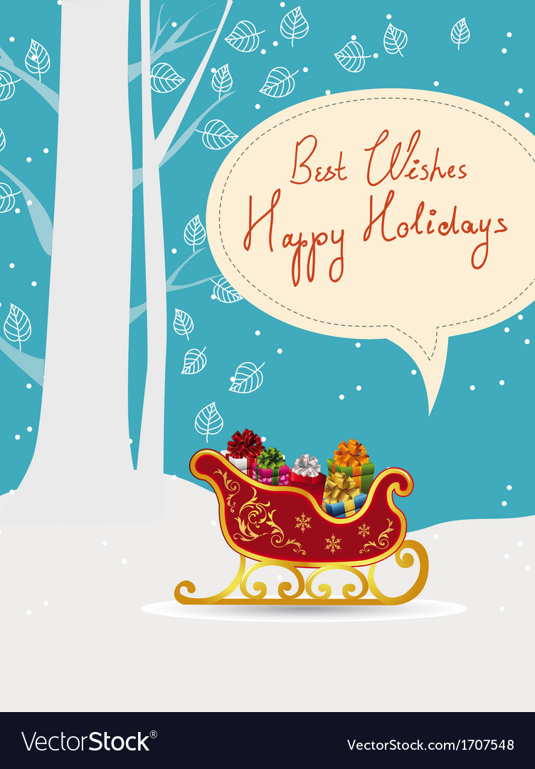 All wrapped up holiday card vector | Price: 1 Credit (USD $1)