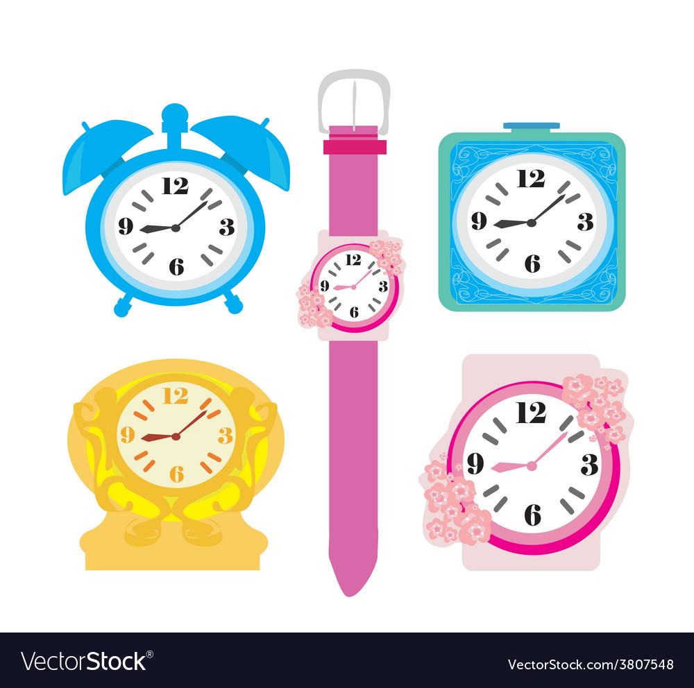 Clock set vector   Price: 1 Credit (USD $1)