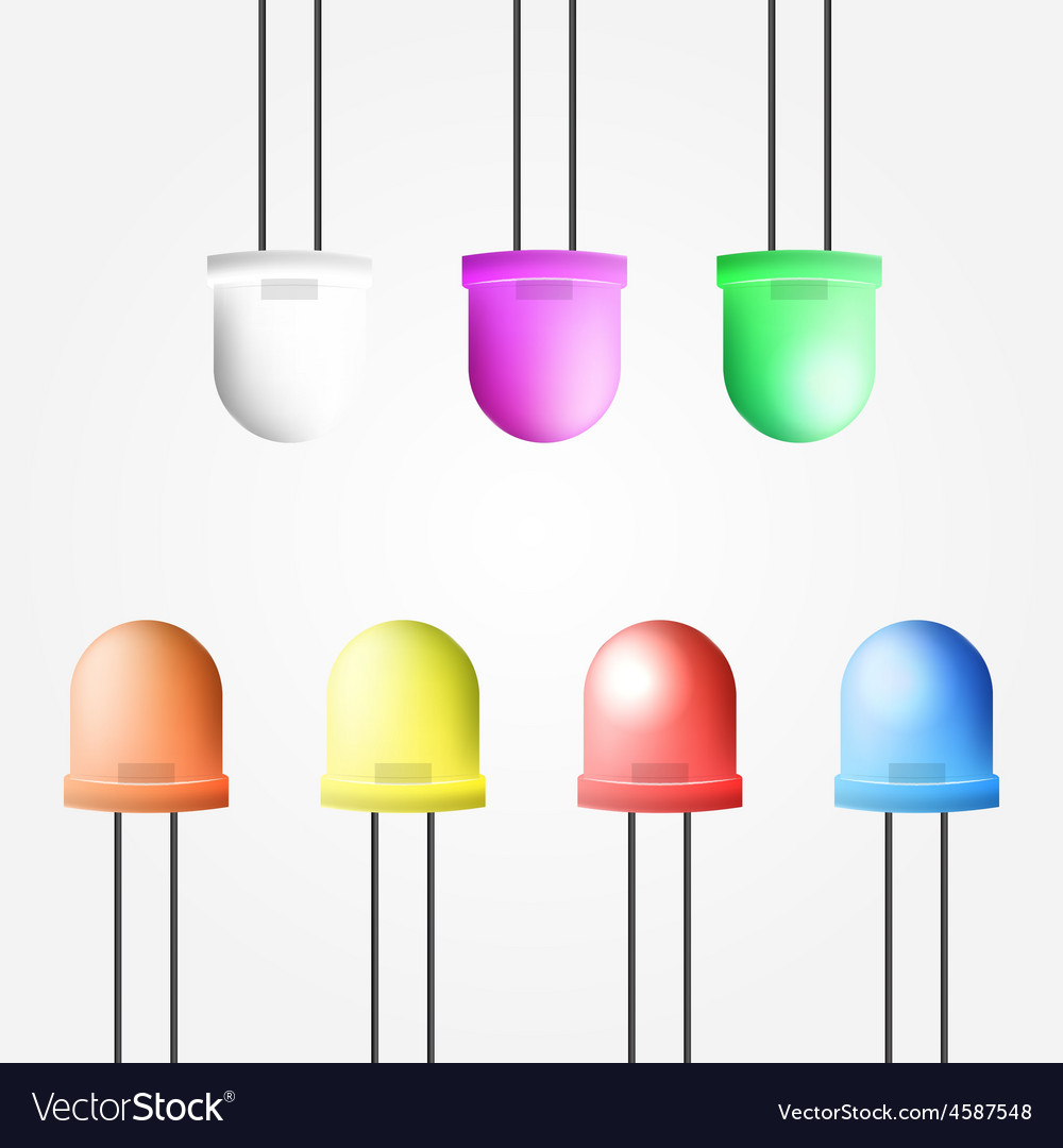 Colored diode vector | Price: 1 Credit (USD $1)