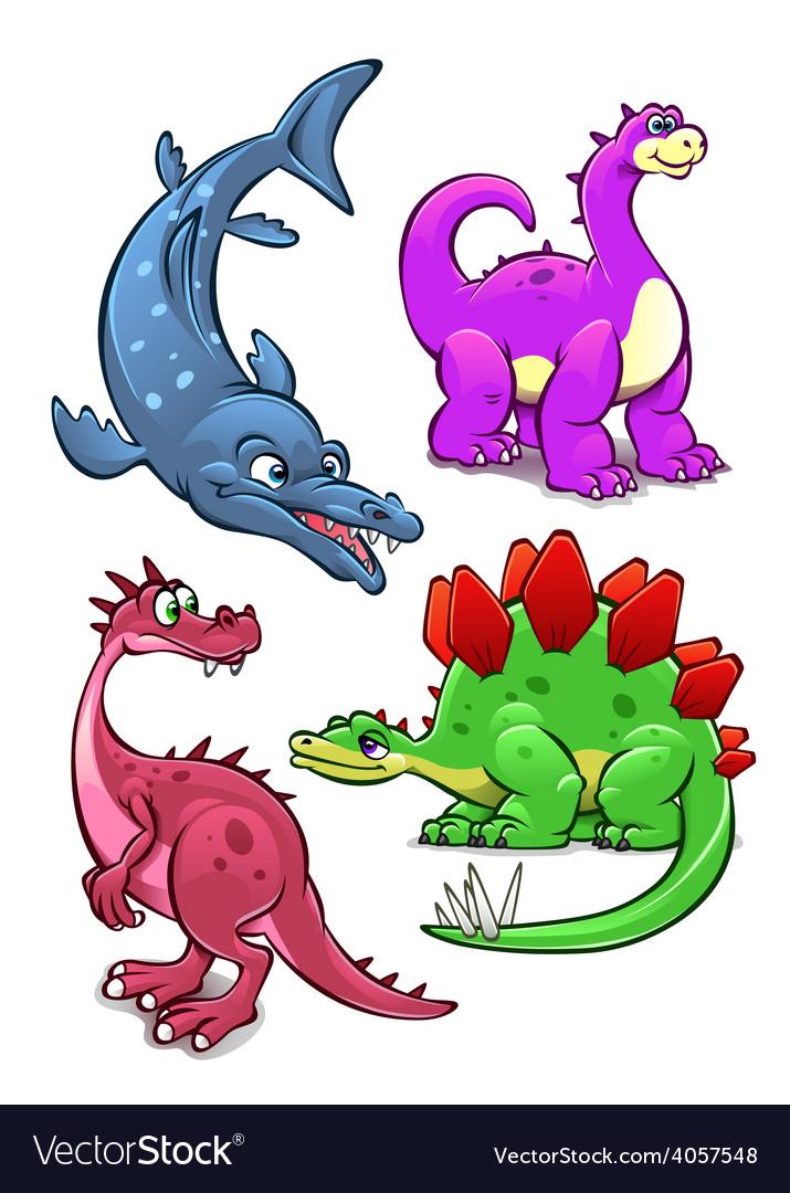 Dinosaurs vector | Price: 3 Credit (USD $3)