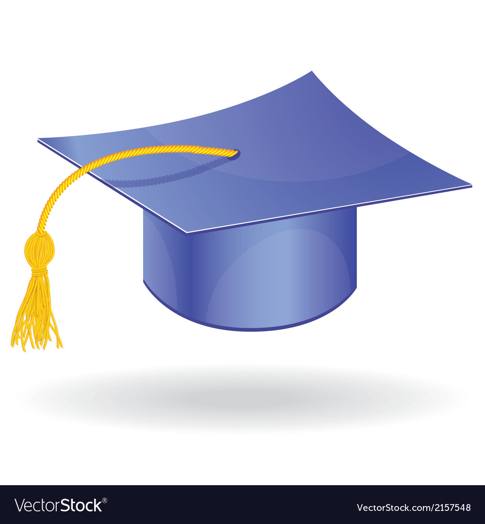 Graduation student hat cap icon symbol vector | Price: 1 Credit (USD $1)