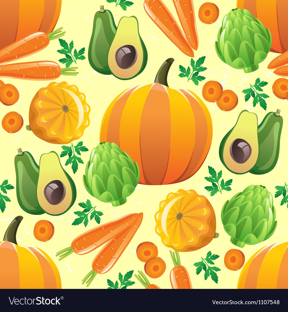 Orange vegetables seamless vector | Price: 1 Credit (USD $1)