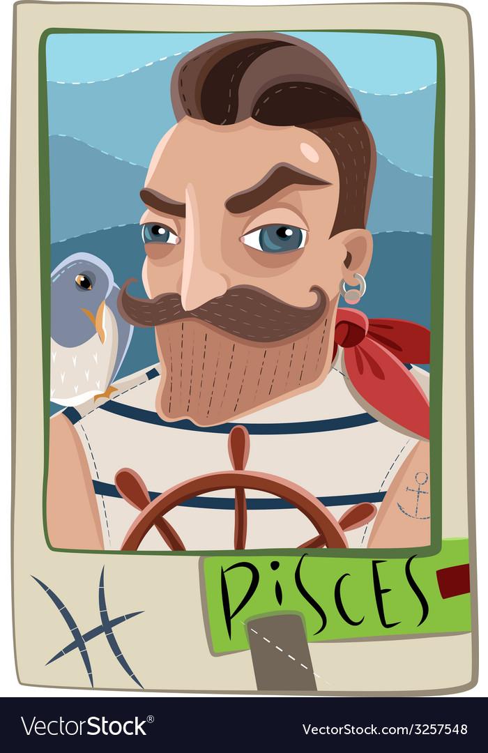 Pisces man vector | Price: 1 Credit (USD $1)