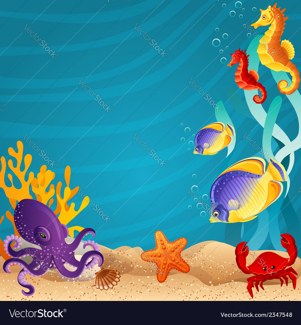 Sea bottom vector | Price: 1 Credit (USD $1)