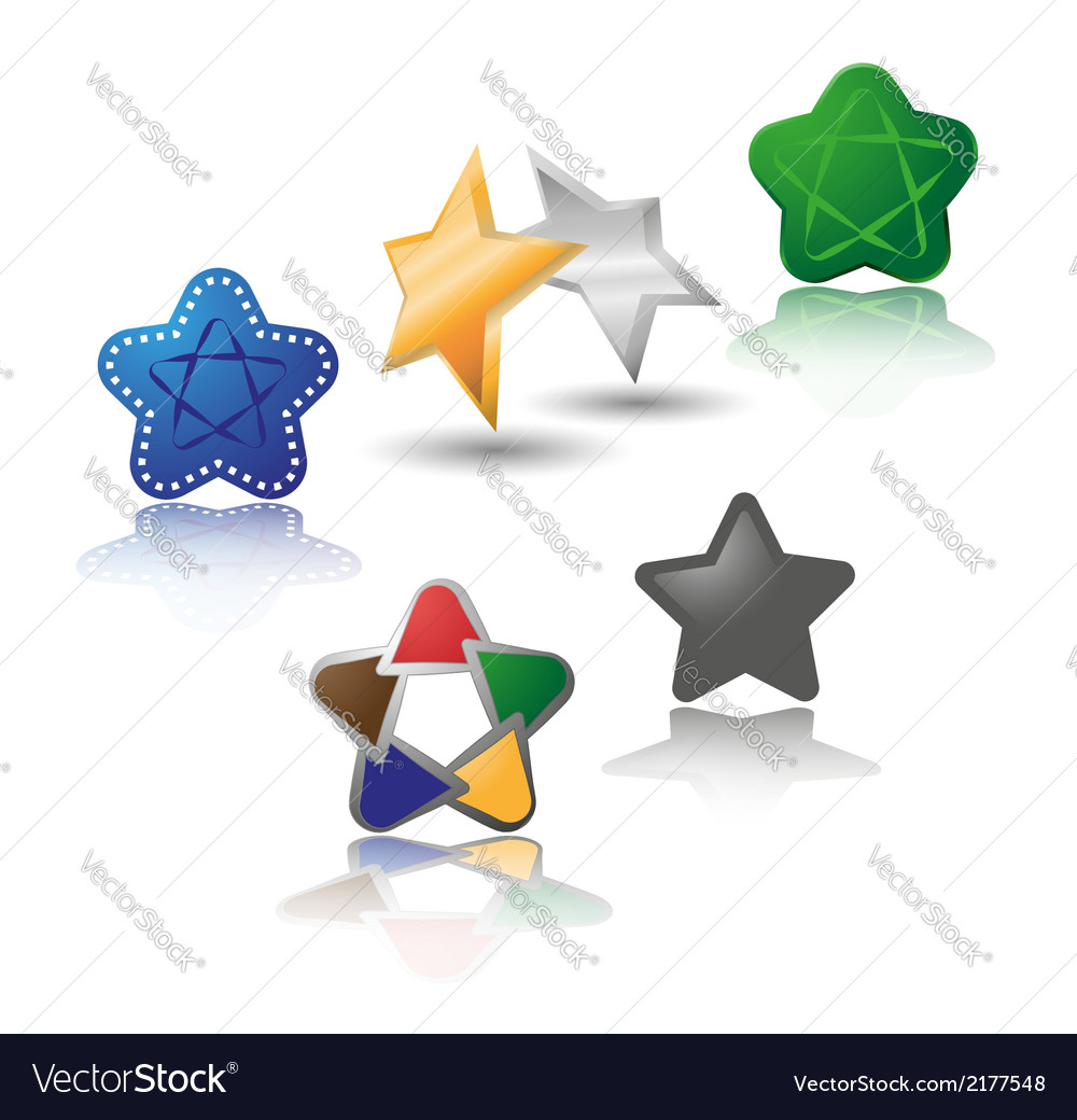 Set of different stars vector | Price: 1 Credit (USD $1)