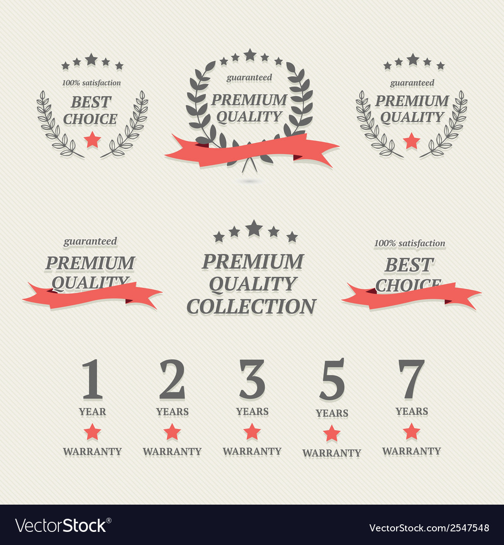 Set of vintage premium quality elements vector | Price: 1 Credit (USD $1)