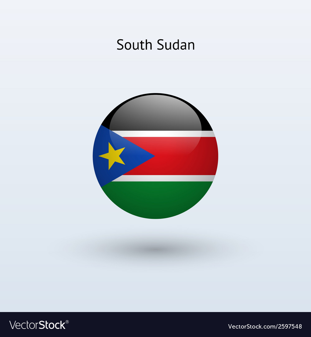 South sudan round flag vector | Price: 1 Credit (USD $1)