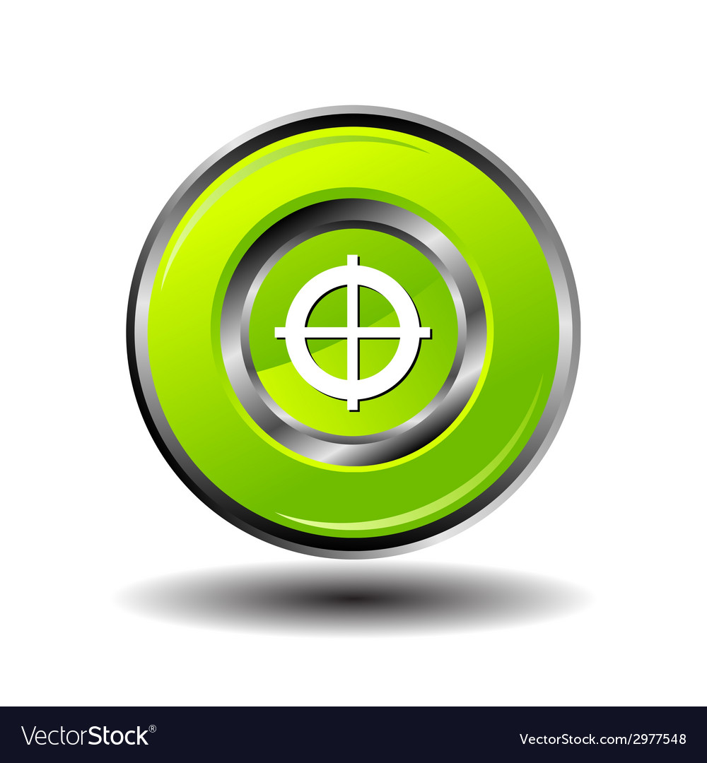 Target icon focus button vector | Price: 1 Credit (USD $1)