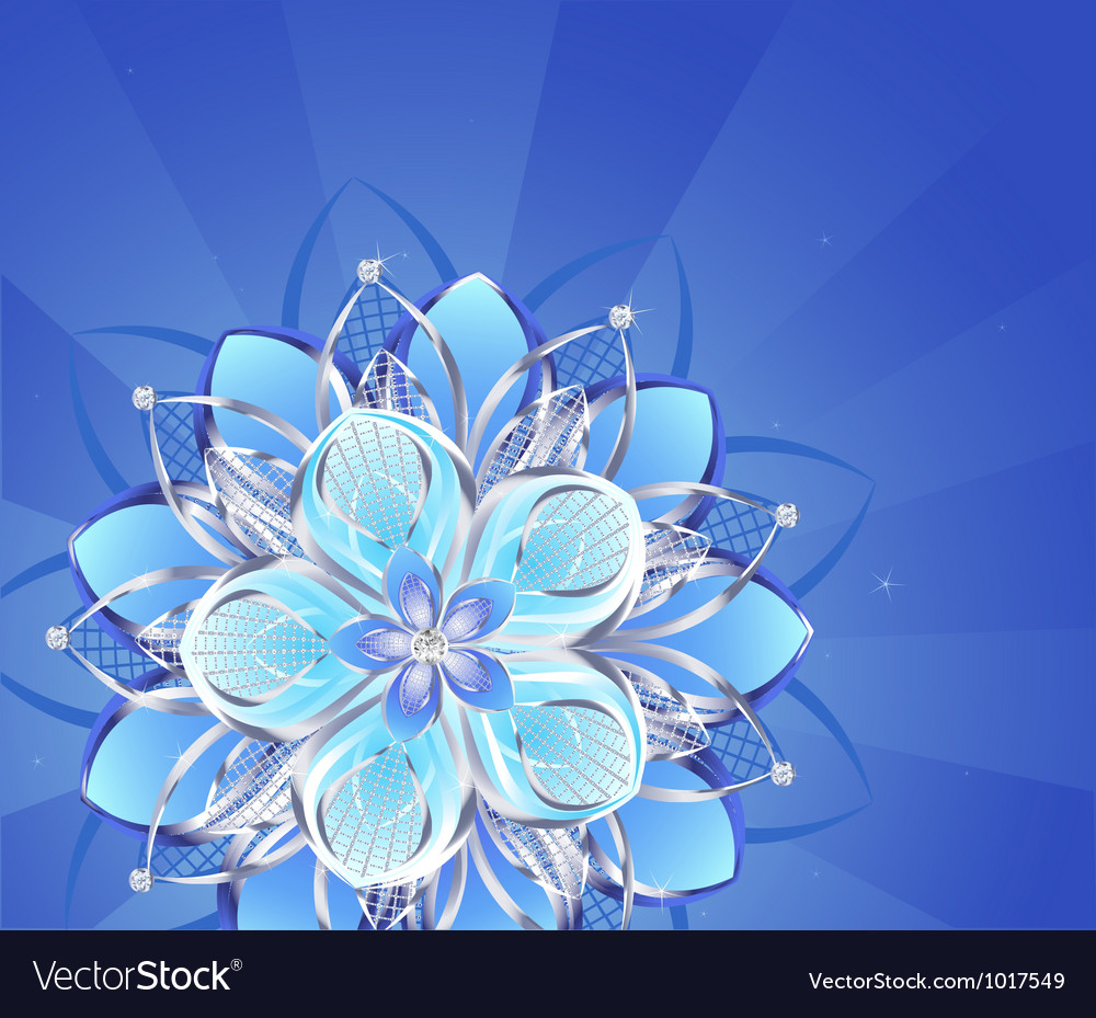 Abstract silver flower vector | Price: 1 Credit (USD $1)