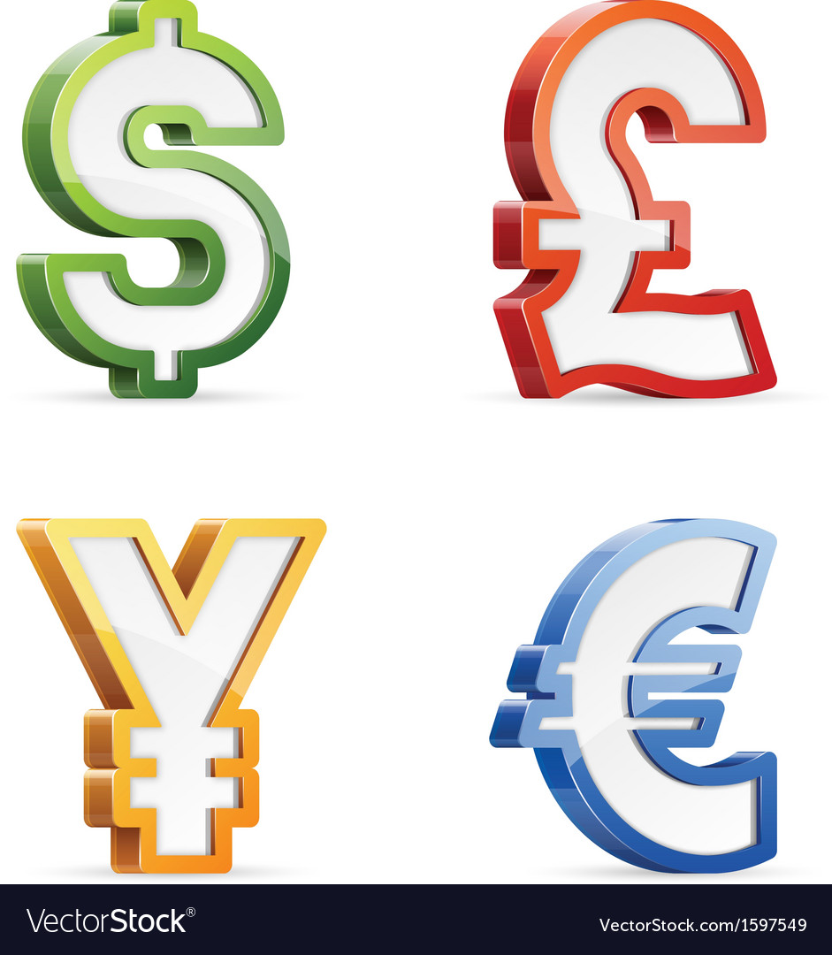 Currency symbols vector | Price: 1 Credit (USD $1)