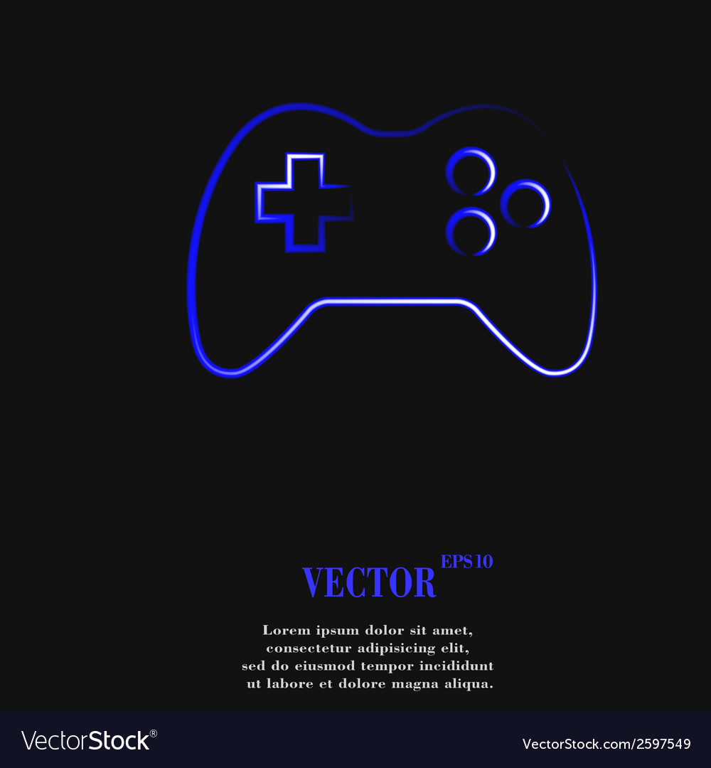 Gaming joystick flat modern web button and space vector   Price: 1 Credit (USD $1)
