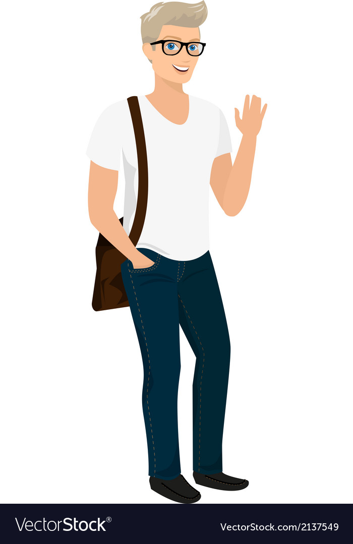 Handsome blond guy isolated vector | Price: 1 Credit (USD $1)
