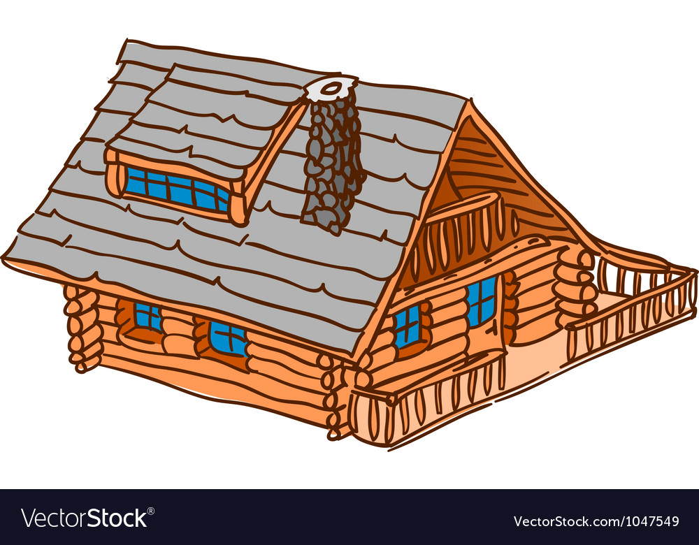 Isolated wooden cabin vector | Price: 1 Credit (USD $1)