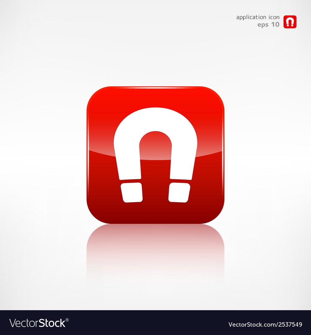 Magnet symbol electromagnetism symbol vector | Price: 1 Credit (USD $1)