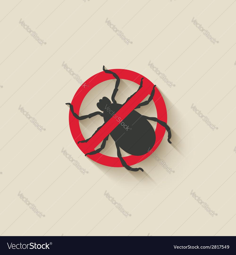 Mite warning sign vector | Price: 1 Credit (USD $1)