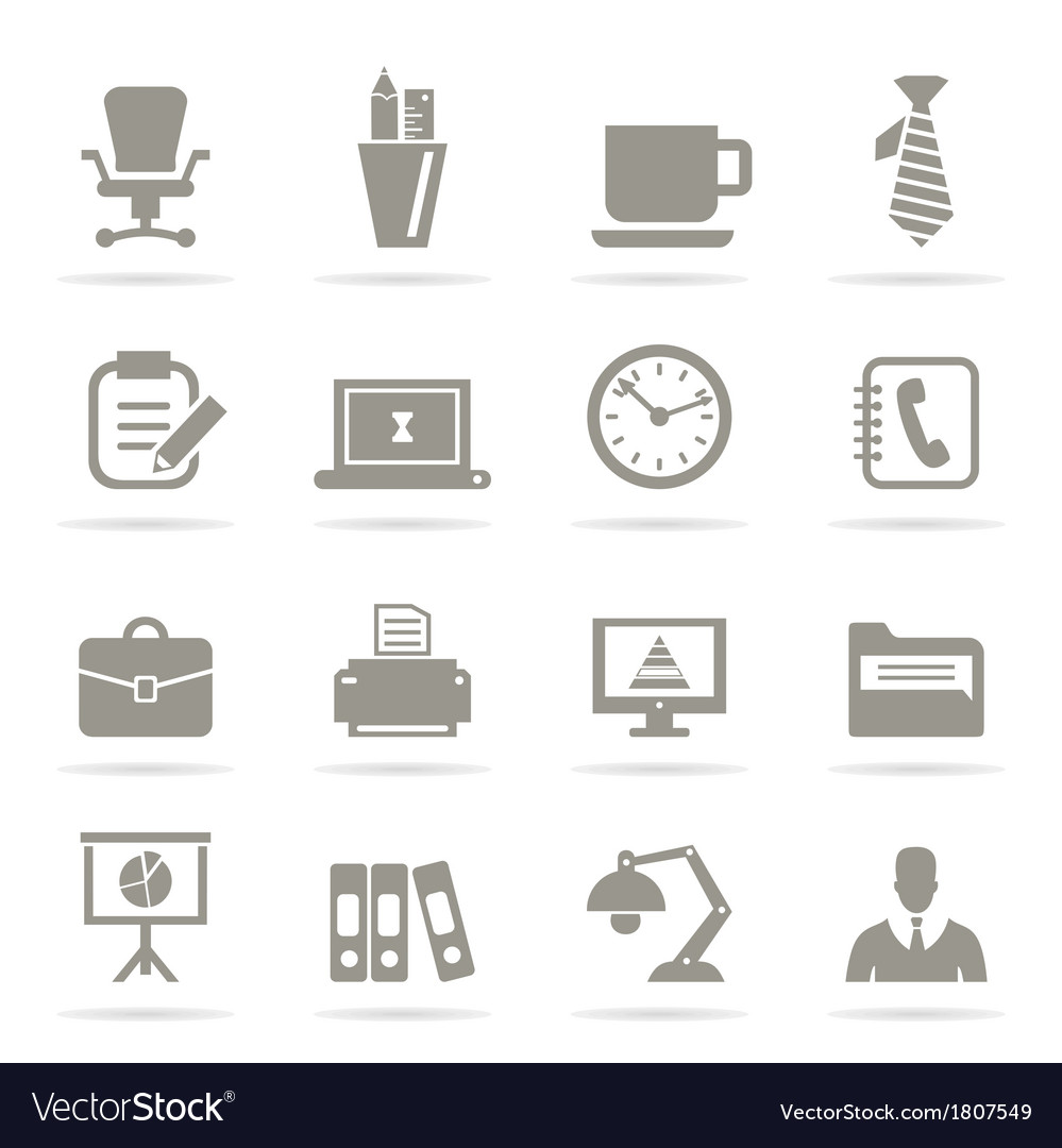 Office icons9 vector | Price: 1 Credit (USD $1)