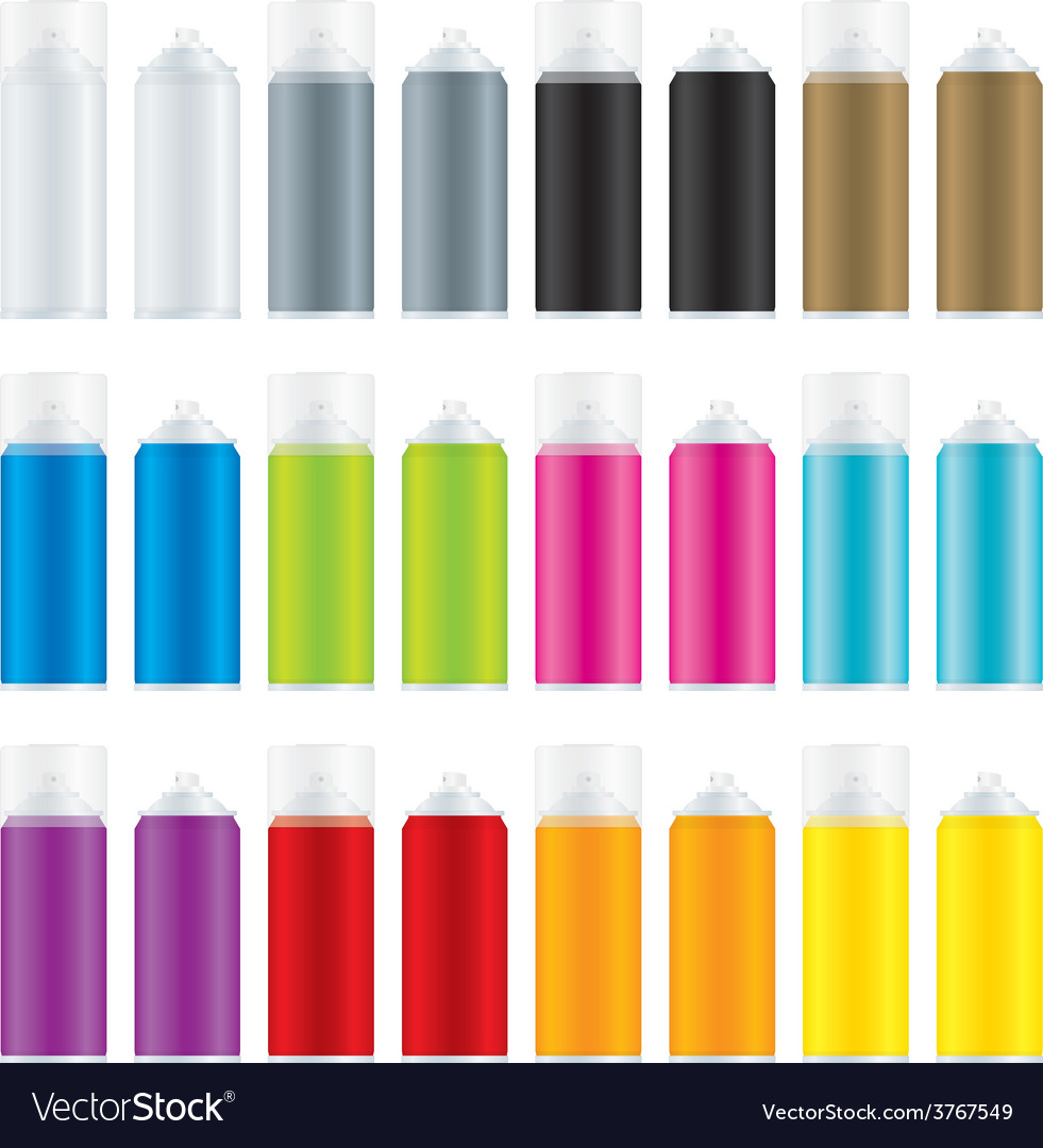 Paint spray cans vector | Price: 1 Credit (USD $1)