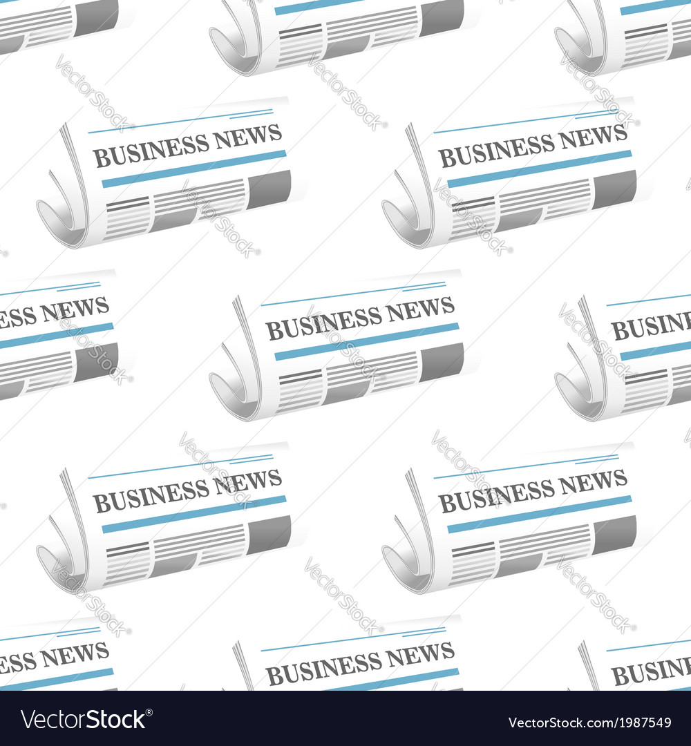 Pattern of folded business news newspapers vector | Price: 1 Credit (USD $1)