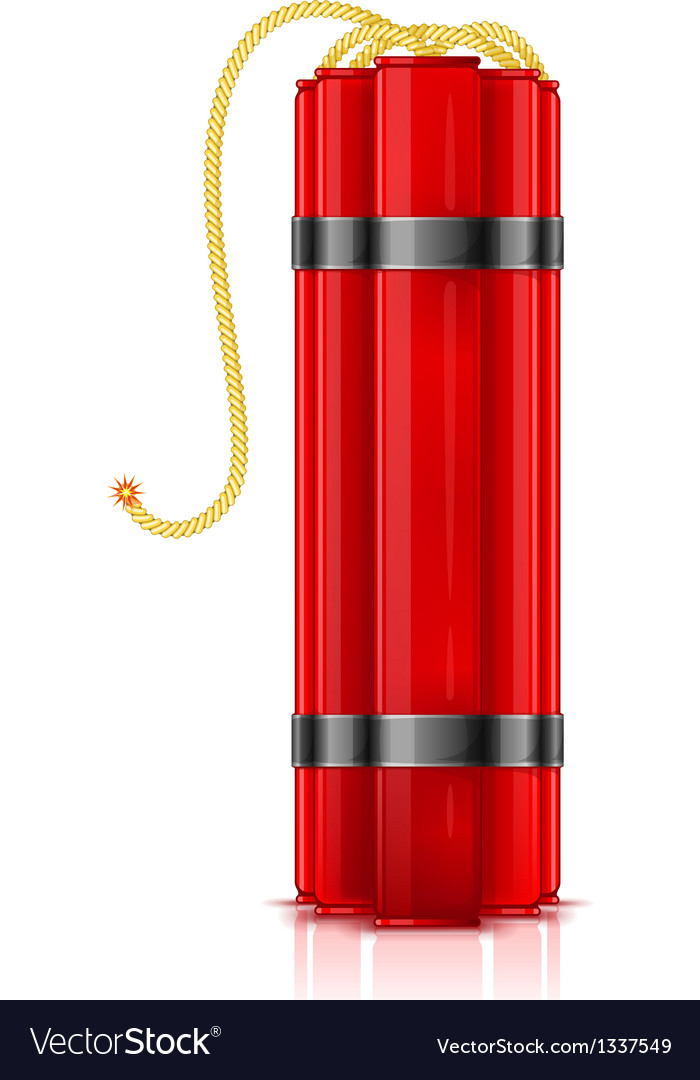 Red dynamite sticks vertical vector | Price: 1 Credit (USD $1)
