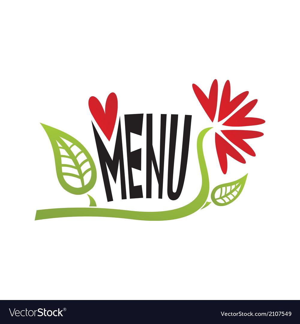 Romantic valentines day menu vector | Price: 1 Credit (USD $1)