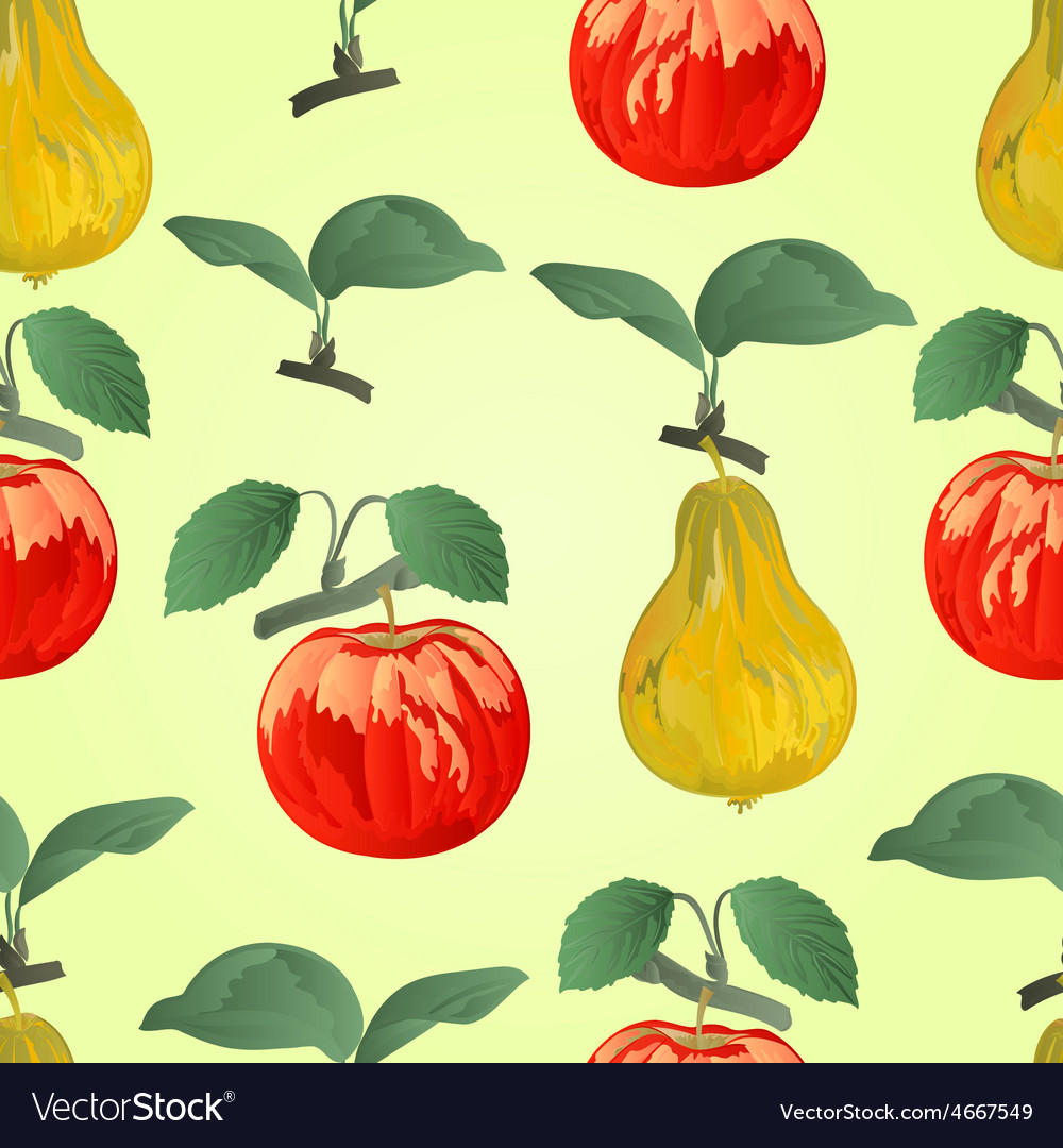 Seamless texture red apple with pear vector   Price: 1 Credit (USD $1)