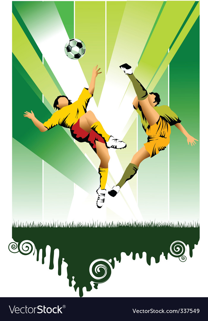 Soccer poster vector   Price: 1 Credit (USD $1)