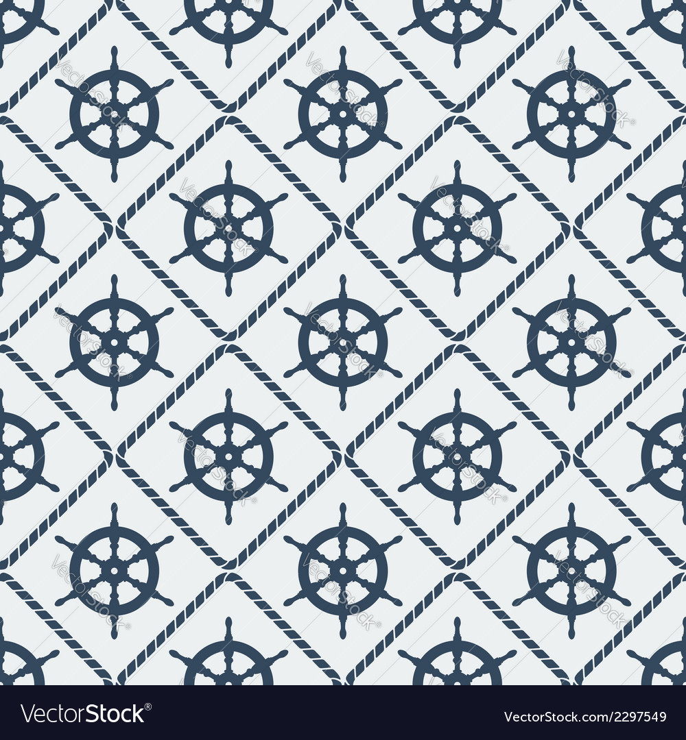 Steering wheel seamless pattern vector | Price: 1 Credit (USD $1)