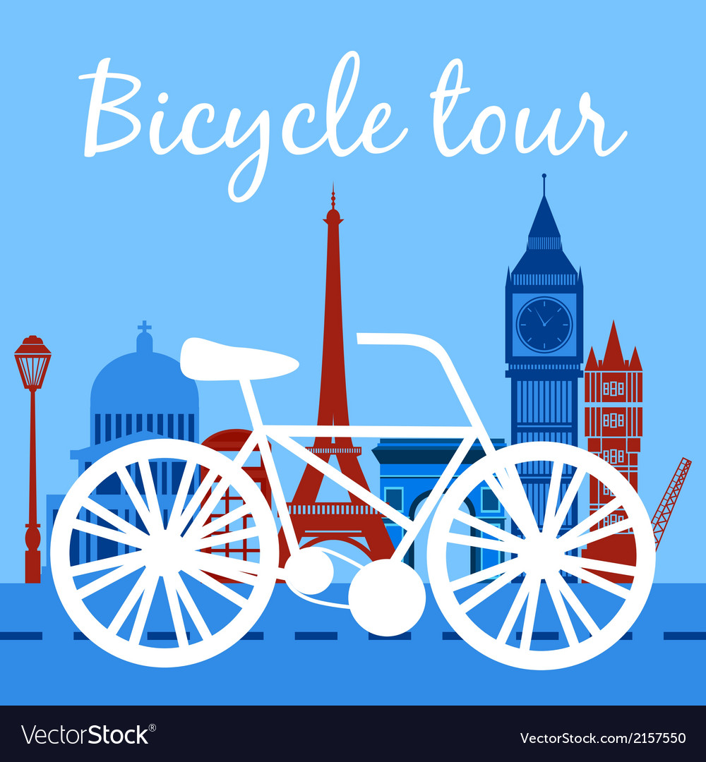 Bicycle tour poster vector | Price: 1 Credit (USD $1)