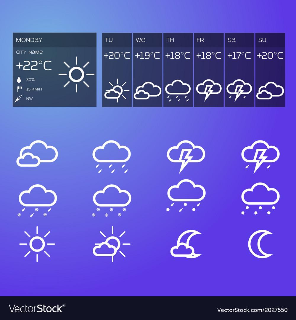 Blue weather widget vector   Price: 1 Credit (USD $1)