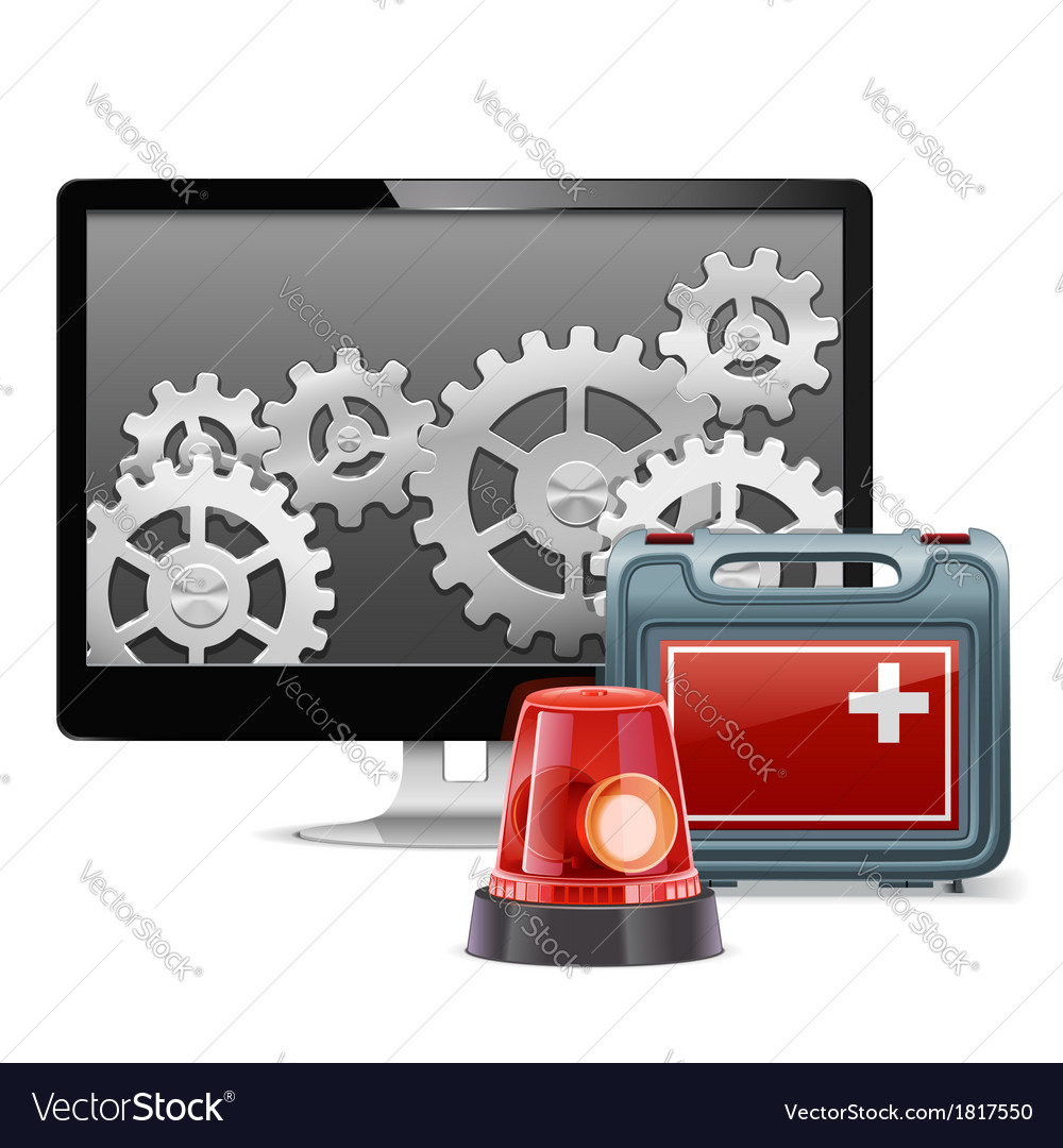 Computer emergency support vector | Price: 3 Credit (USD $3)