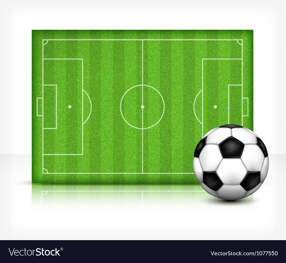 Football playing field vector | Price: 1 Credit (USD $1)