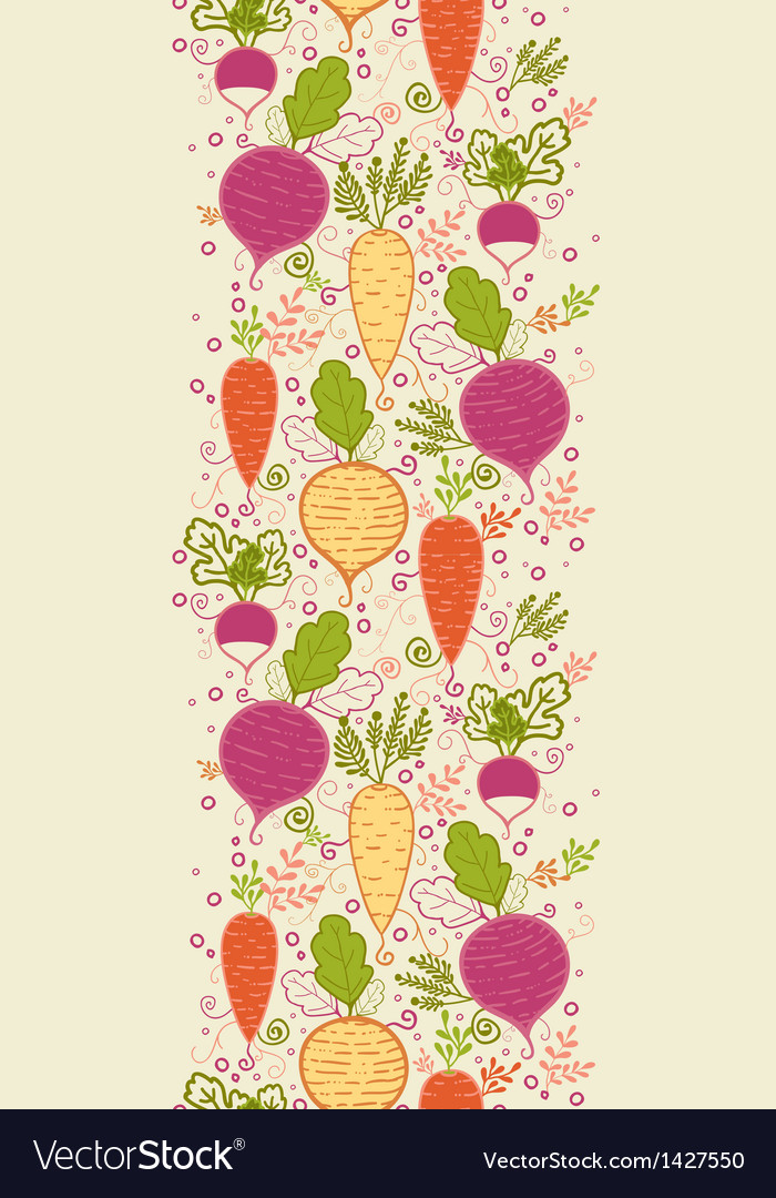 Root vegetables vertical seamless pattern vector | Price: 1 Credit (USD $1)