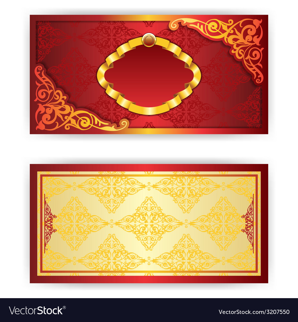 Royal invitation card with frame vector | Price: 1 Credit (USD $1)