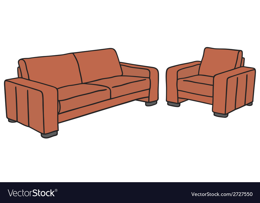 Sofa and armchair vector | Price: 1 Credit (USD $1)