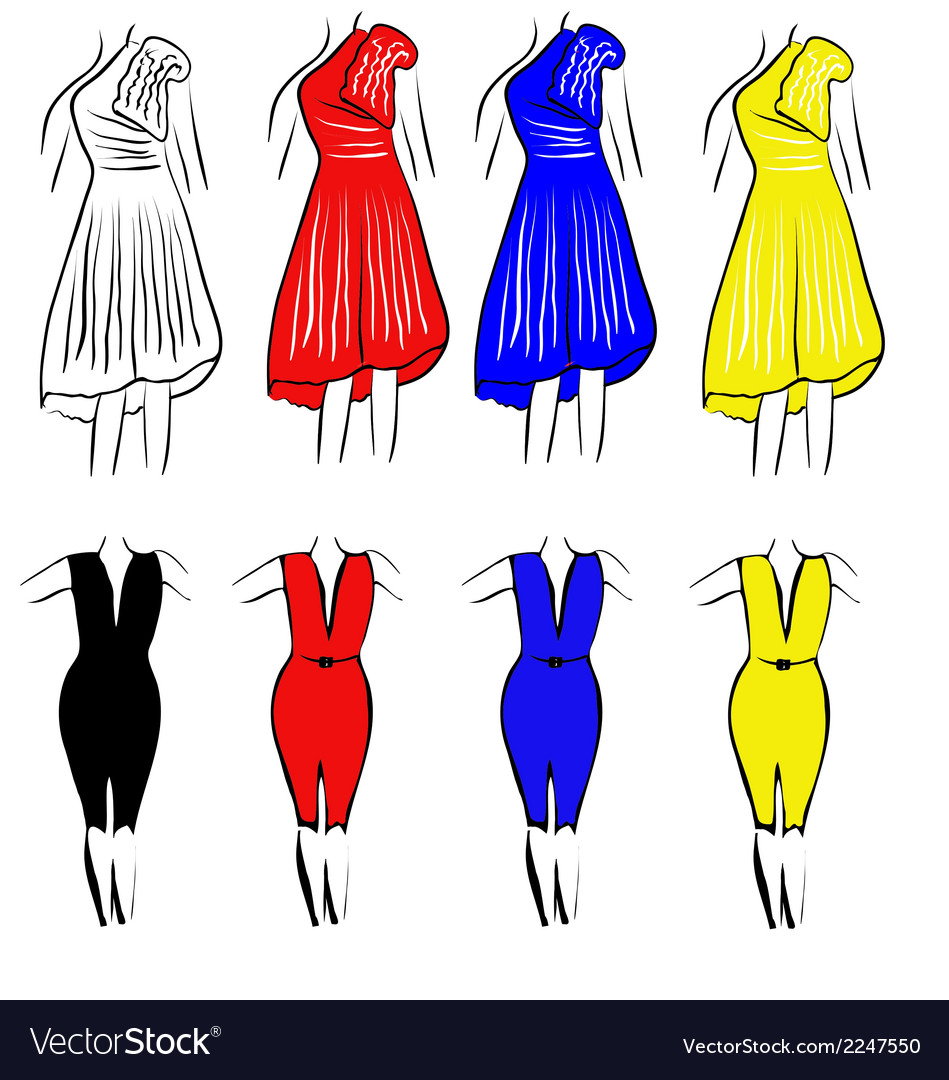 Womens dresses vector | Price: 1 Credit (USD $1)