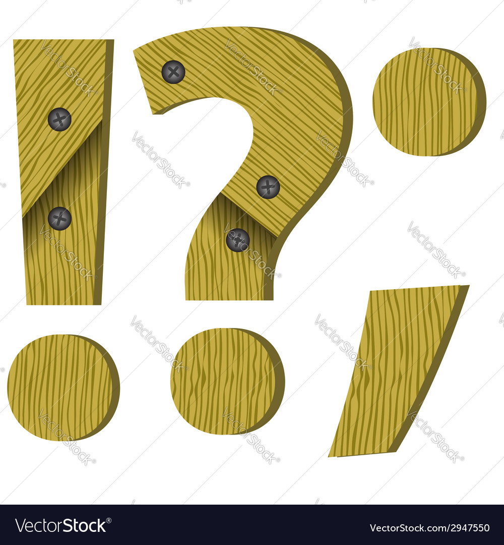 Wood question mark vector | Price: 1 Credit (USD $1)