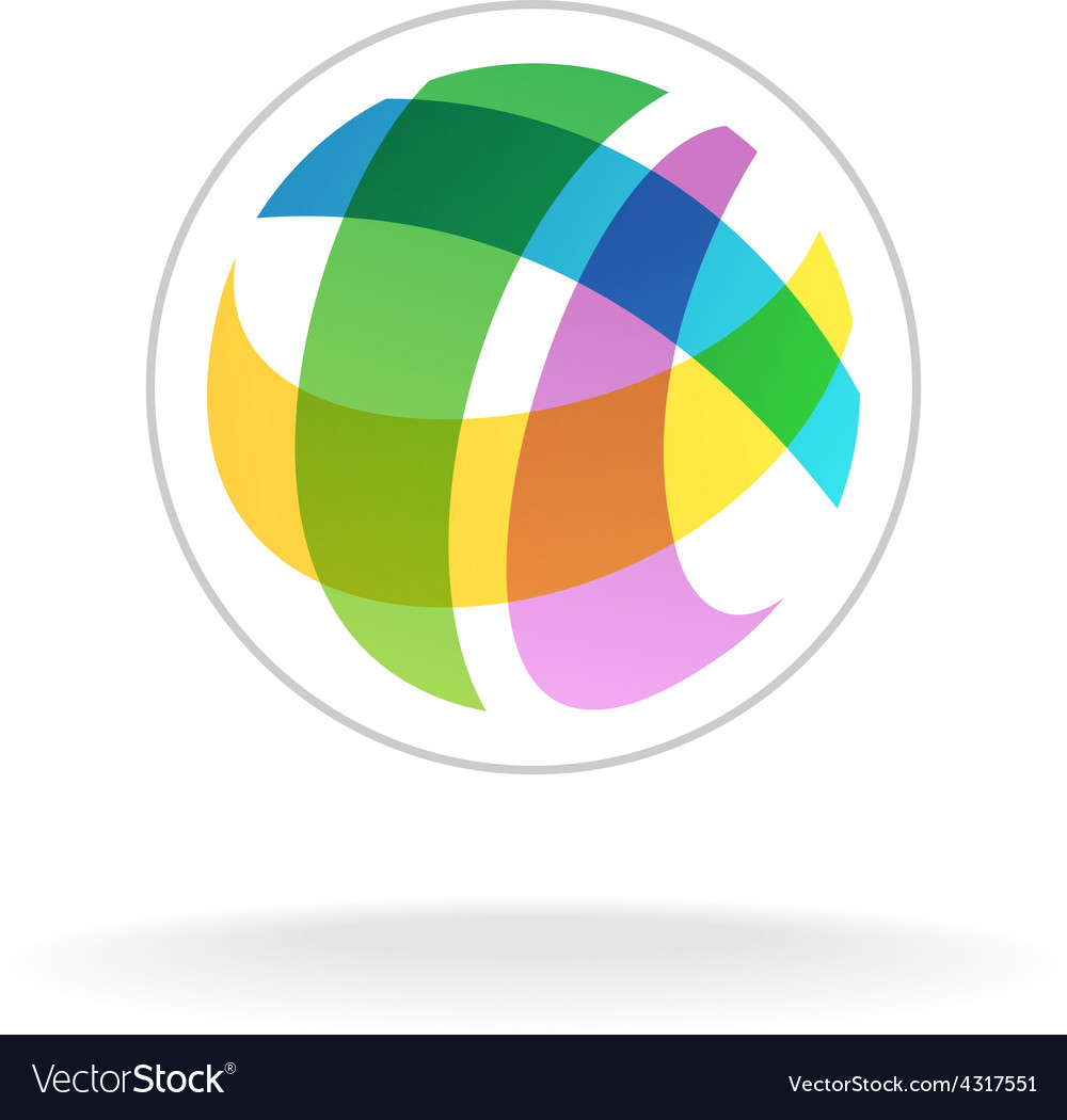 Abstract colorful round sphere logo template vector | Price: 1 Credit (USD $1)