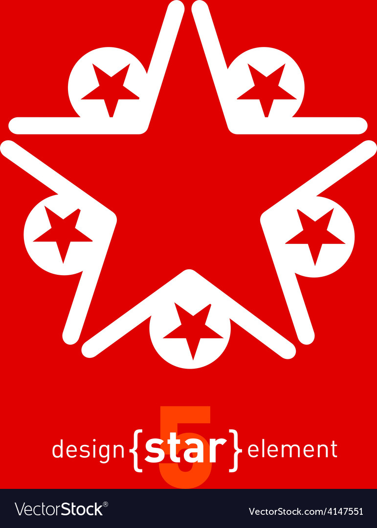 Abstract design element star vector | Price: 1 Credit (USD $1)