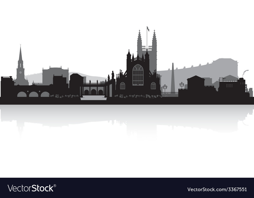 Bath city skyline silhouette vector | Price: 1 Credit (USD $1)