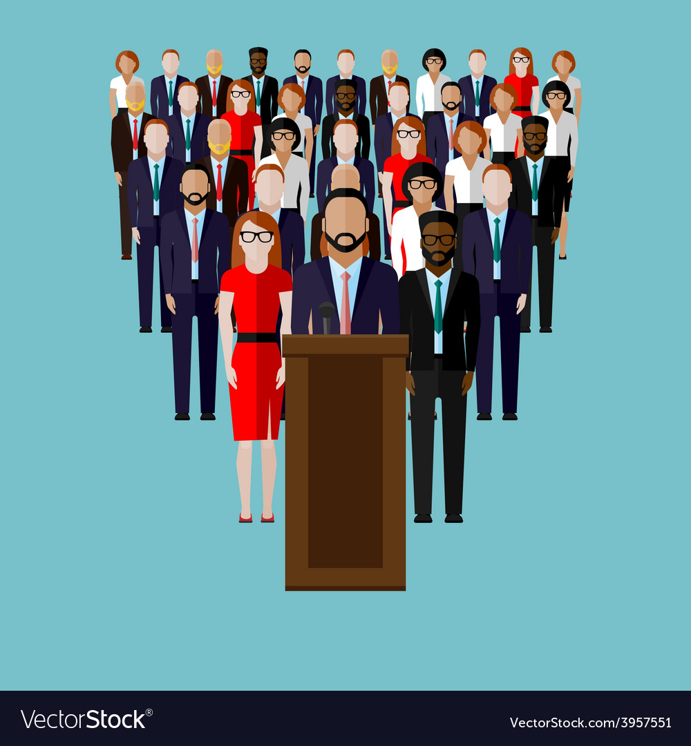 Flat of a speaker party vector | Price: 1 Credit (USD $1)