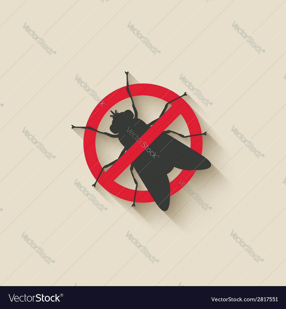 Fly warning sign vector | Price: 1 Credit (USD $1)